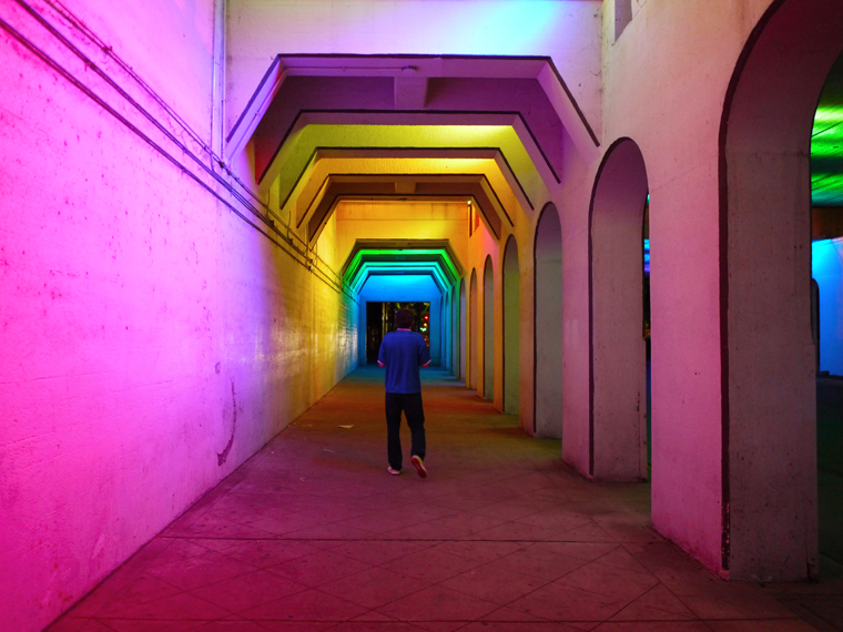 rainbow tunnel